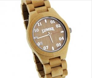 Houten portemonnee en horloge