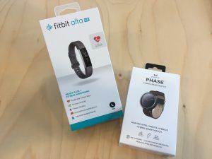 Fitbit Alta HR en Misfit Phase