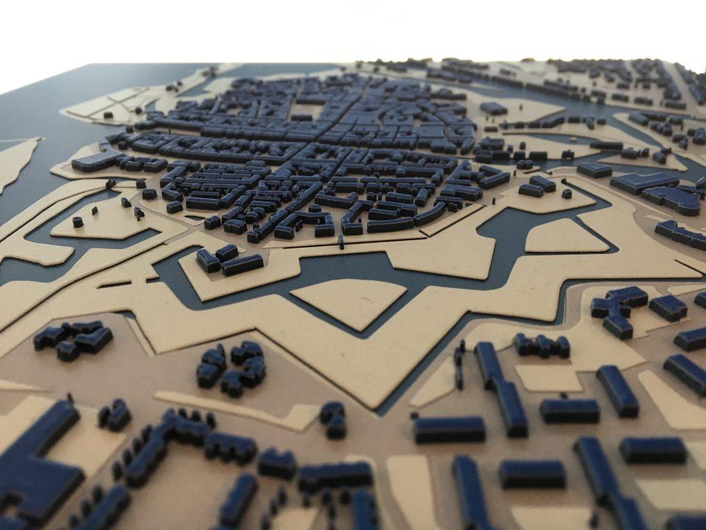 Stadsplattegrond in 3D