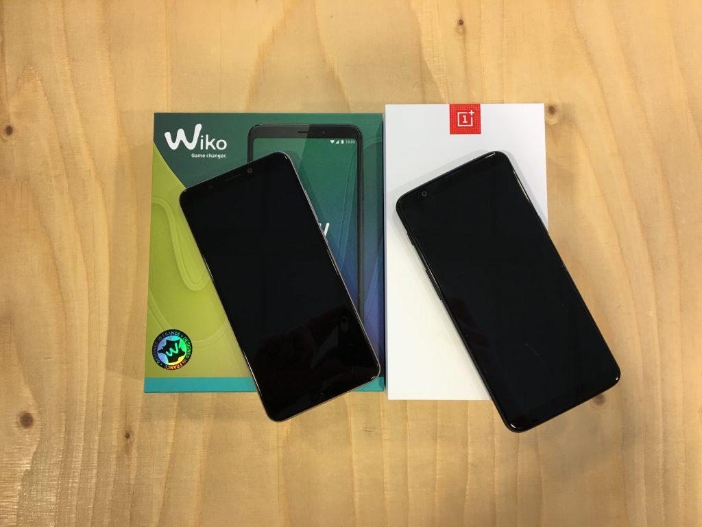 Smartphones van OnePlus en Wiko